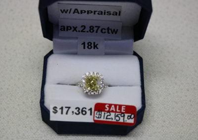 18K Aprx. 2.87 CTW Sale $12,159