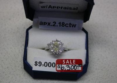 Platinum Aprx. 2.18CTW SI1 Sale $6,300